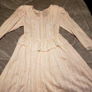 Gunne Sax by Jessica pink prairie dress